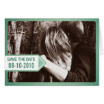 Green Postal Notice Save the Date Invitation Greeting Cards