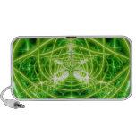 Green Pot Leaf Fractal Speaker