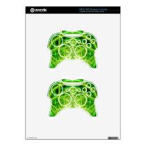 Green Pot Leaf Fractal Xbox 360 Controller Skin