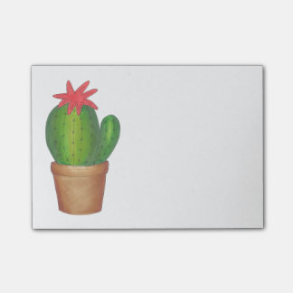 Green Potted Plant Green Cactus Flower Post Its Post-it Notes