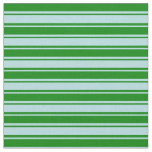 [ Thumbnail: Green & Powder Blue Colored Stripes/Lines Pattern Fabric ]