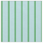 [ Thumbnail: Green & Powder Blue Lined Pattern Fabric ]