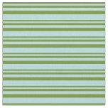 [ Thumbnail: Green & Powder Blue Stripes Pattern Fabric ]