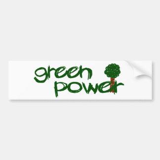 Green Power Car Bumper Sticker
