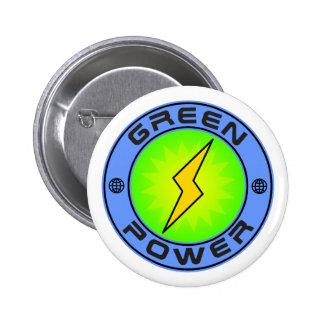 Green Power II 2 Inch Round Button