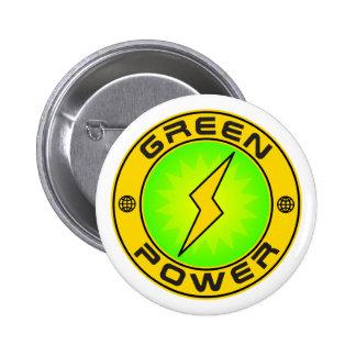 Green Power III 2 Inch Round Button
