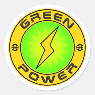 Green Power III Classic Round Sticker