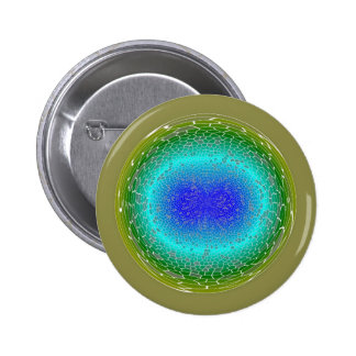 Green Power in a globe abstract Button