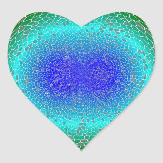 Green Power in a globe abstract Heart Sticker