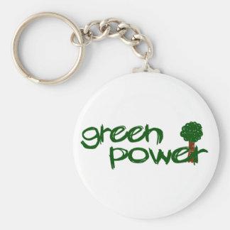 Green Power Key Chains