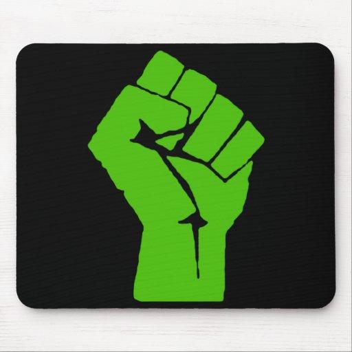 Green power mouse mat
