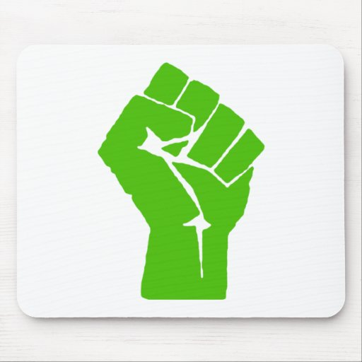 Green power mouse pads