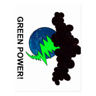 GREEN POWER! POSTCARD