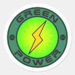 Green Power Sticker