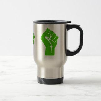 Green power travel mug