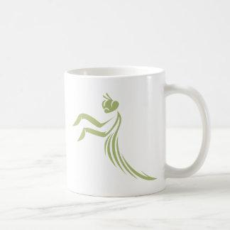 Green Praying Mantis Logo Coffee Mugs