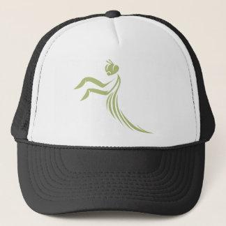 Green Praying Mantis Logo Trucker Hat