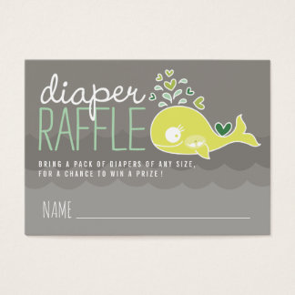 Green Pregnant Mommy Whale Diaper Raffle Tickets