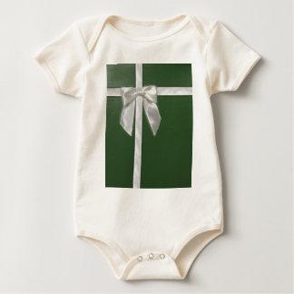 green present baby bodysuit