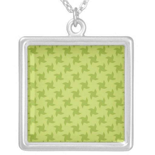 Green Pretty Origami Patterns Necklace