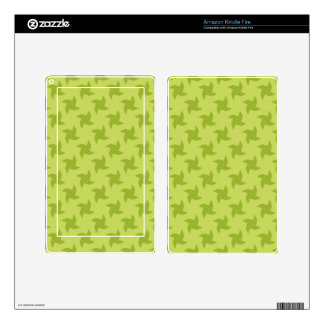 Green Pretty Origami Patterns Kindle Fire Decal