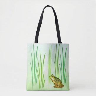 Green Princess Frog Animal Tote Bag