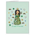Green Princess Greeting Card