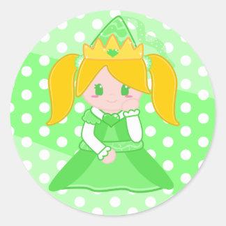 Green Princess Sticker