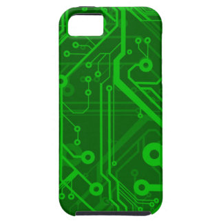Green Printed Circuit Board Pattern iPhone 5 Cases
