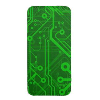 Green Printed Circuit Board Pattern iPhone 5 Pouch