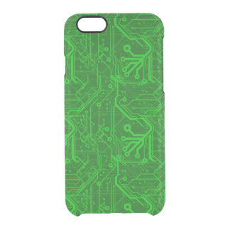 Green Printed Circuit Board Pattern Uncommon Clearly™ Deflector iPhone 6 Case