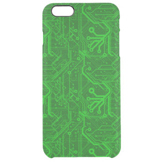 Green Printed Circuit Board Pattern Uncommon Clearly™ Deflector iPhone 6 Plus Case
