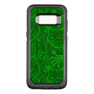 Green Printed Circuit Board Pattern OtterBox Commuter Samsung Galaxy S8 Case