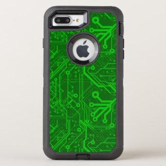 Green Printed Circuit Board Pattern OtterBox Defender iPhone 8 Plus/7 Plus Case