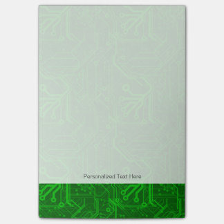 Green Printed Circuit Board Pattern Post-it Notes
