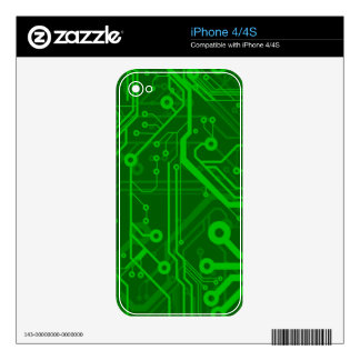 Green Printed Circuit Board Pattern Skins For The iPhone 4S