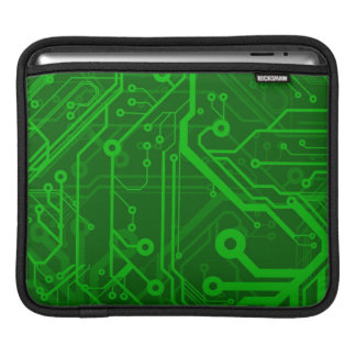 Green Printed Circuit Board Pattern Sleeve For iPads