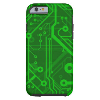 Green Printed Circuit Board Pattern Tough iPhone 6 Case