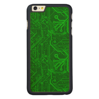 Green Printed Circuit Board Pattern Carved® Maple iPhone 6 Plus Case
