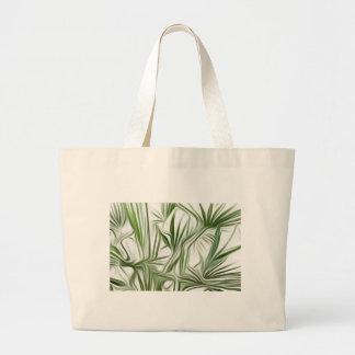 Green prints - green Print green plant Large Tote Bag