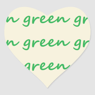 Green products heart sticker