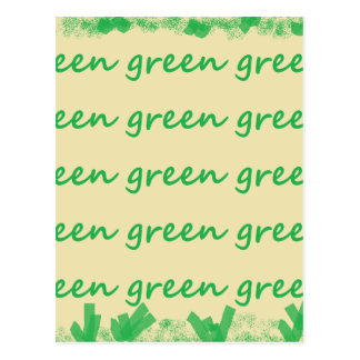 Green products post cards