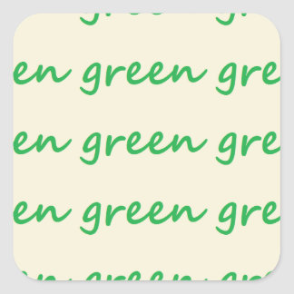 Green products square sticker