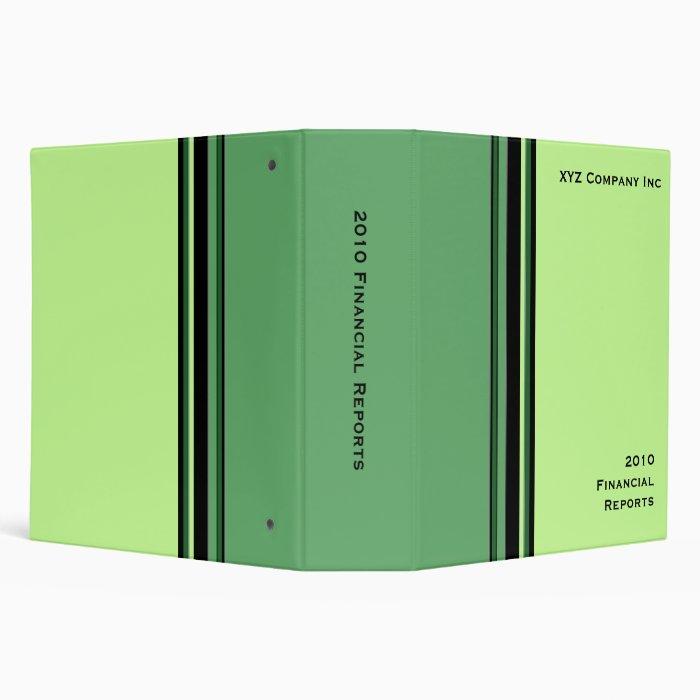 Green Professional Binder Zazzle