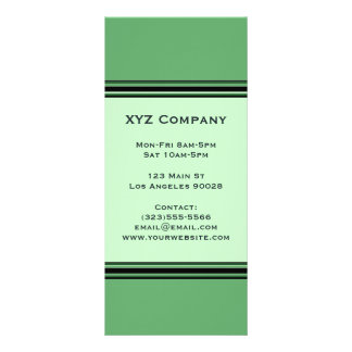 Green Professional Rack Card