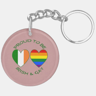 Green Proud to be Irish and Gay Keychain