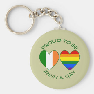 Green Proud to be Irish and Gay Key Chains