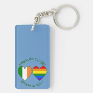 Green Proud to be Irish and Gay Acrylic Keychain