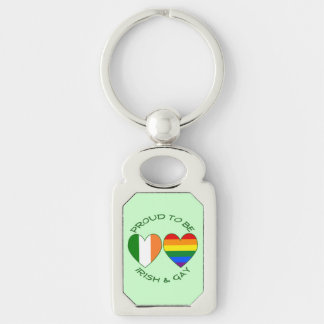 Green Proud to be Irish and Gay Key Chain