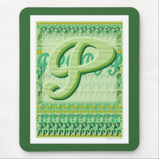 'Green P's' Mouse Pad